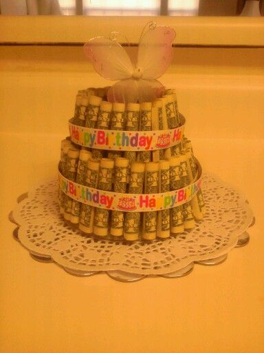 Money cake, Birthday money and Dollar bills on Pinterest