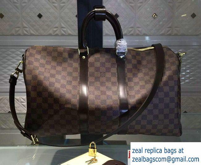 Louis Vuitton Damier Ebene Canvas Keepall 45 N41428 in original leather