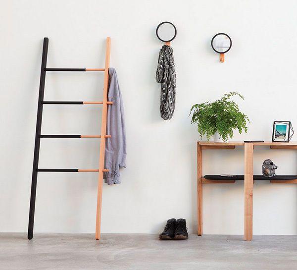 new umbra hub wooden display bathroom towel ladder home decor storage presale