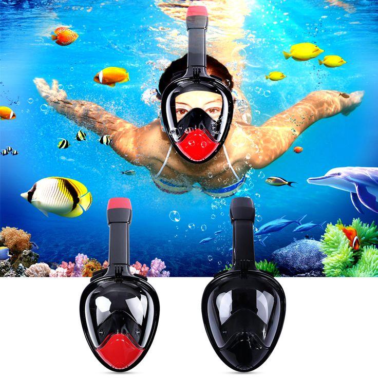 Underwater Diving Mask Snorkel Set Swimming Training Scuba mergulho full face snorkeling mask Anti Fog Gopro Camera Dropshipping