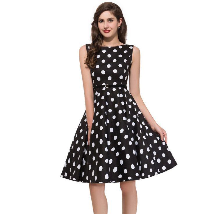 1950s Casual Swing Dress - Polka Dots