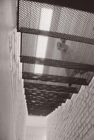 perforated steel.folded stair
