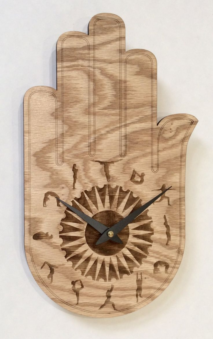 Buddha's hand yoga clock. wood wall clock, wood clock, wall clock wood, clock, wall clock, large wall clock, buddha, buddha hand, wall art