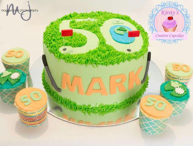 Golf 50th birthday cake