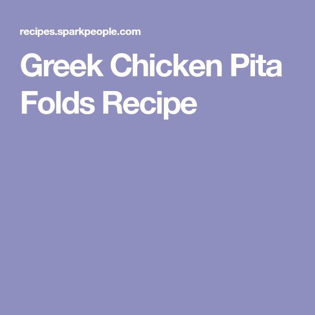Greek Chicken Pita Folds Recipe