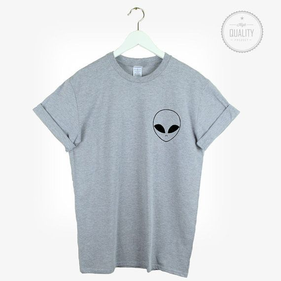 ALIEN POCKET t-shirt shirt tee unisex mens by freesbeeClothing