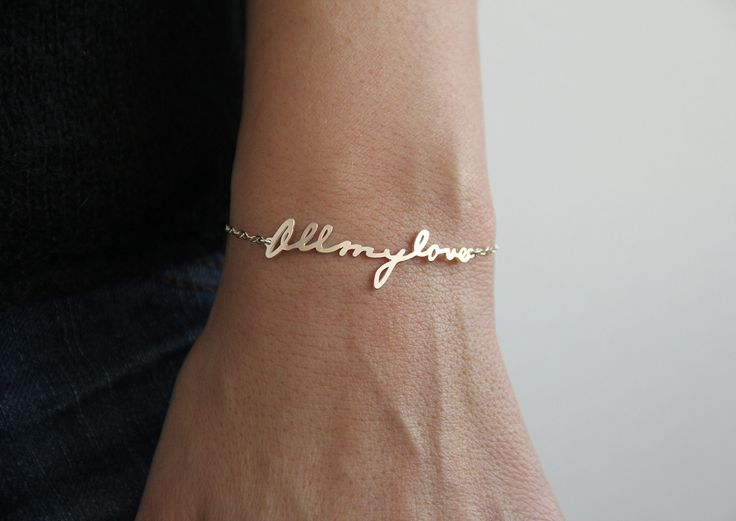 Signature Bracelet Handwriting Bracelet Personalized by capucinne, $89.00