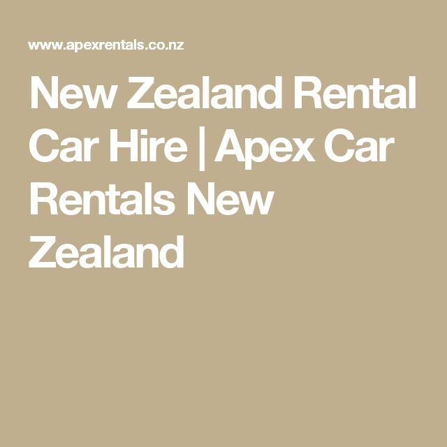 New Zealand Rental Car Hire | Apex Car Rentals New Zealand
