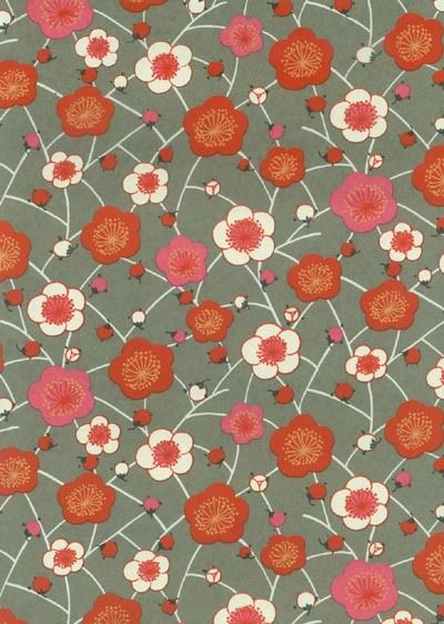 Washi paper with ume design.