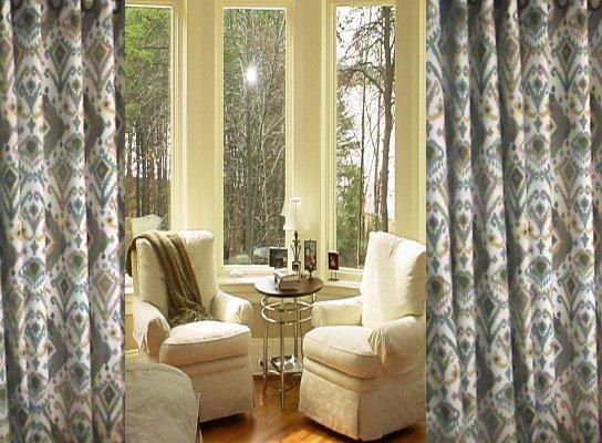 Ikat Curtains SALE   Curtains SALE  Choose your by grandviewdrapes