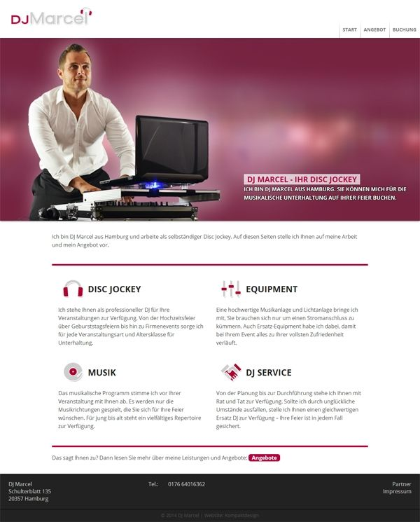 DJ Homepage von DJ Marcel aus Hamburg
