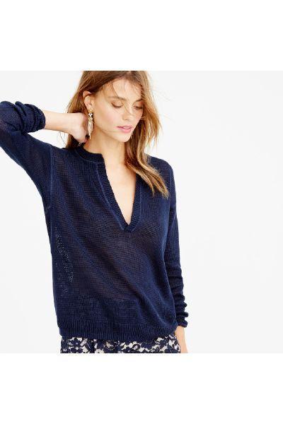 J.Crew Slit-neck beach sweater - The Fashion