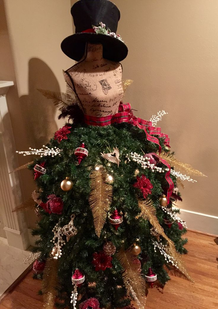 368 Best Christmas Tree Dress Forms Images On Pinterest