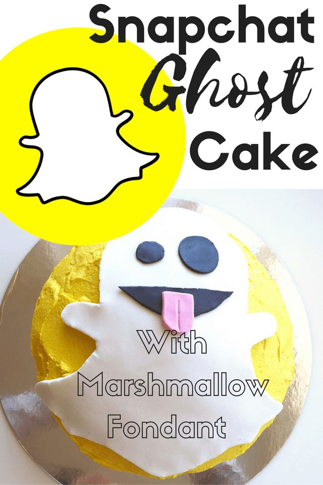 This Snapchat Ghost Cake with Marshmallow Fondant is perfect for Halloween, with over 10 billion daily video views on Snapchat, it comes as no surprise that its taking over the world with a bang!