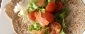 Glutenvrije zalmwraps