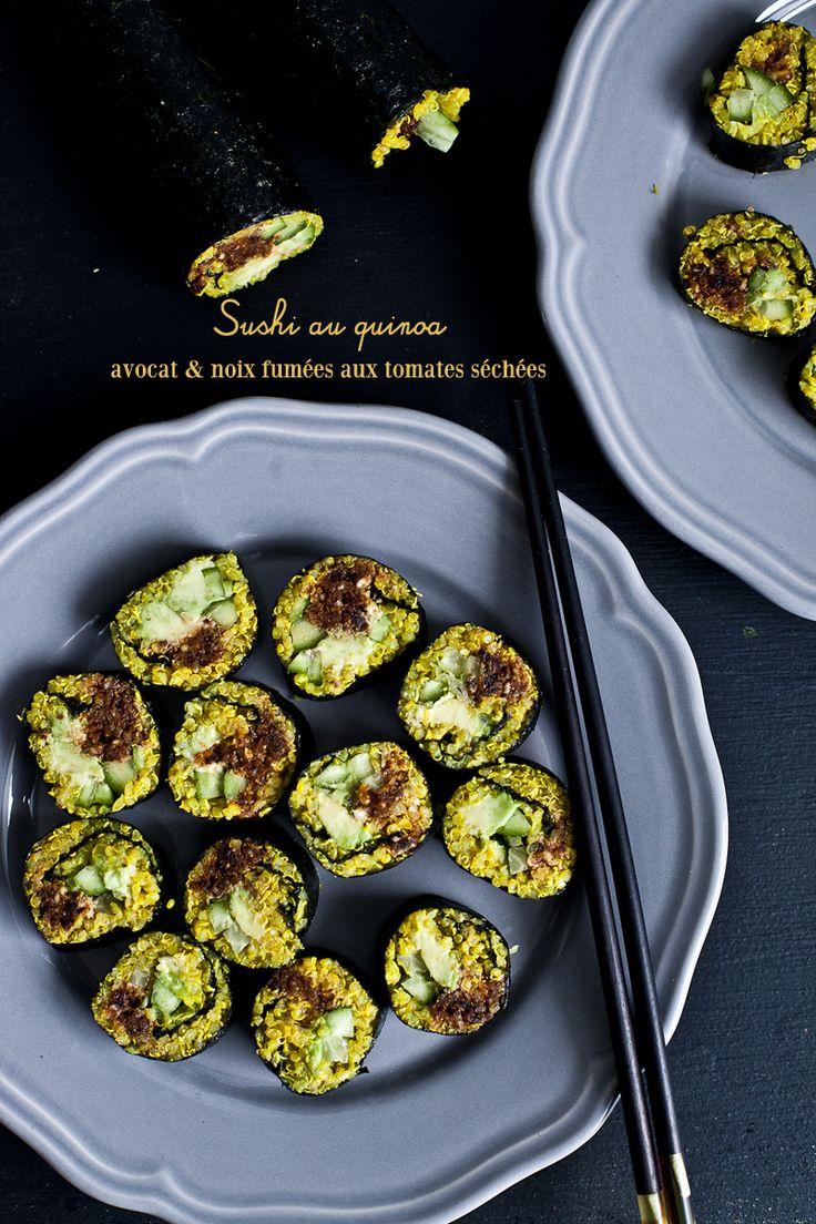 Sushi au quinoa, avocat & noix fumées aux tomates séchées3_©EmilieMurmure