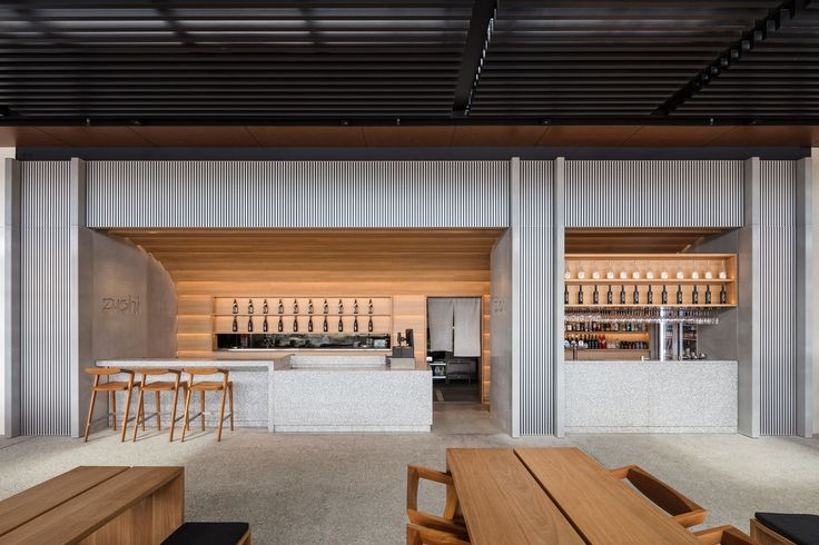 Koichi Takada Architects merge the refined Japanese sensibility with Australian architecture, creating a stylish yet welcoming outdoor restaurant.