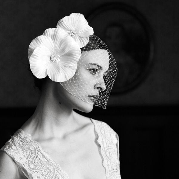 Different Ways To Wear A Birdcage Veil: 30 Beautiful Examples | http://stylishwife.com/2013/10/how-to-wear-a-birdcage-veil.html