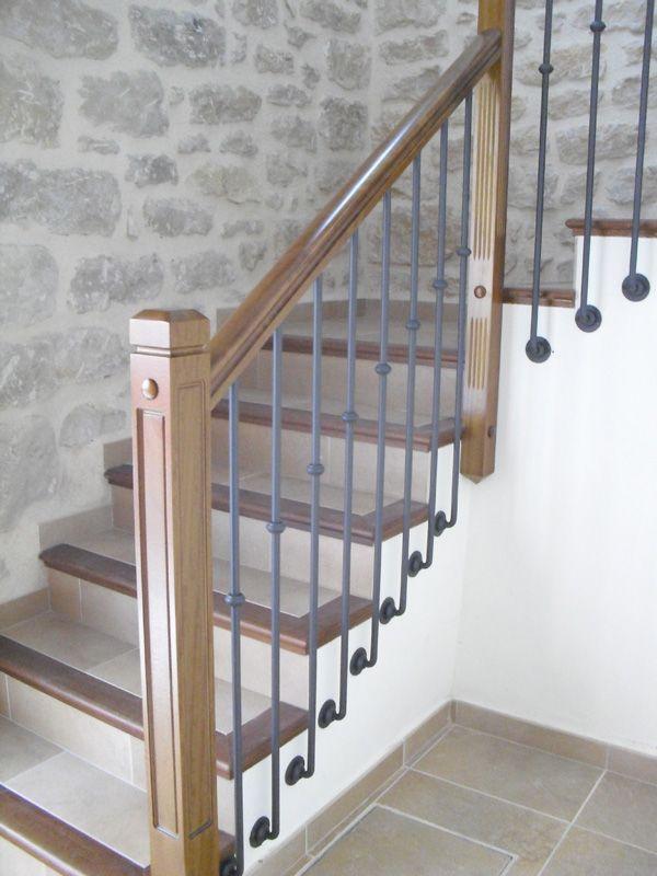 Las 25 mejores ideas sobre barandillas de hierro en for Barandilla escalera exterior