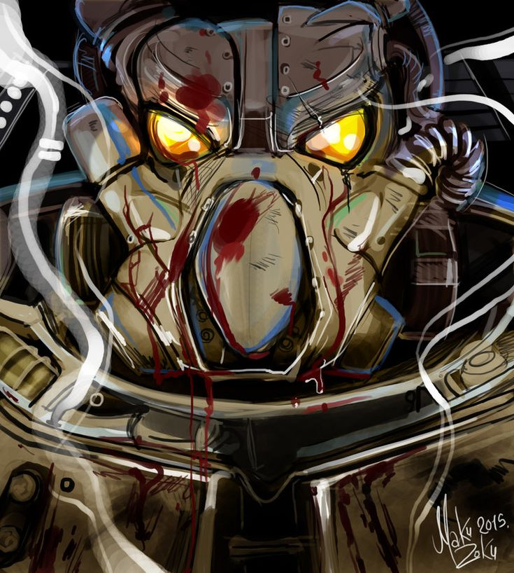 One hour one brush one layer exercise by MaKuZoKu on DeviantArt II The Enclave from Fallout