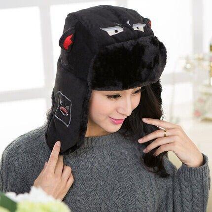 Little devil earflap trooper trapper pilot snowboard bomber snow ski hat warm winter hat cap women men free shipping