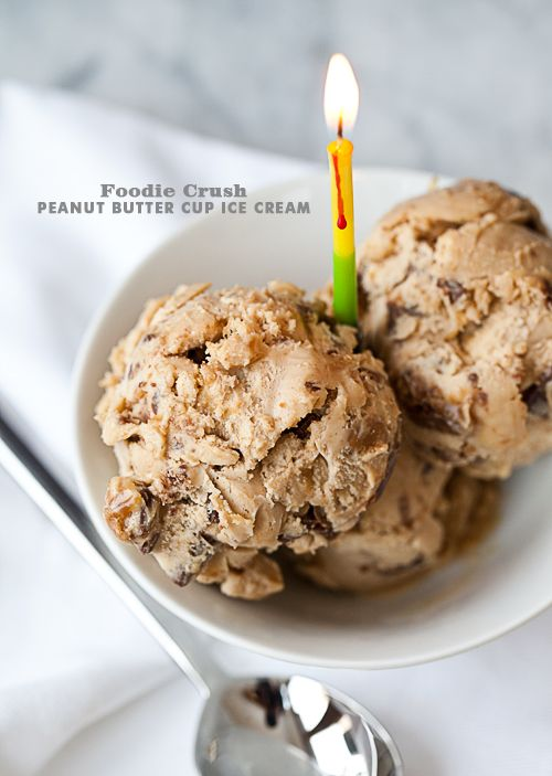 Peanut Butter Cup Ice Cream puts my favorite candy in my favorite chocolate ice cream
