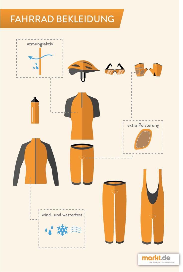 Radbekleidung - funktionell und sportlich | markt.de Was sollte bei der Radsportkleidung auf keinen Fall fehlen? #fahrrad #radsport #sport #fitness #radfahren #fahrradfahren #kleidung #funktionskleidung