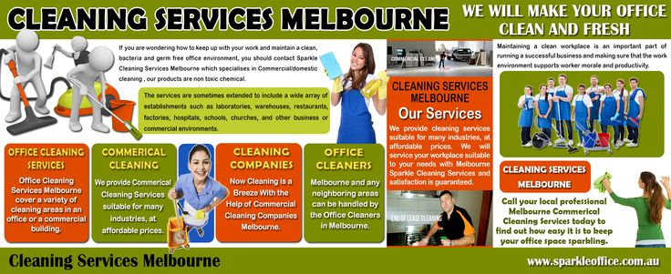 Visit this site http://www.sparkleoffice.com.au/ for more information on Cleaning Services Melbourne. A clean place is a source of positive energy and a messy place reflects negativity. Cleanliness is one thing which all of us long for. There are times when we want to get the place cleaned but do have time to do it ourselves. So if you wish to get your house or office cleaned by the best professionals, there is efficient Cleaning Services Melbourne available providing the finest services.