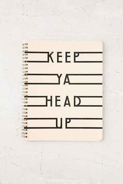 Keep Ya Head Up Notebook - Urban Outfitters
