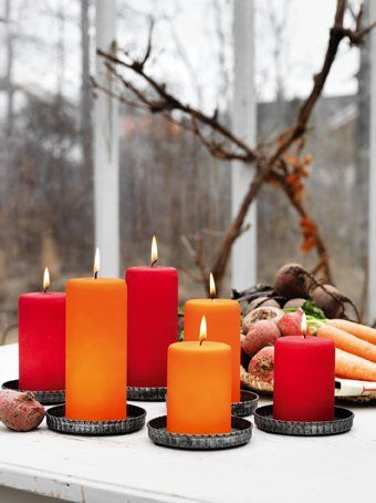 A red candle is another light on earth