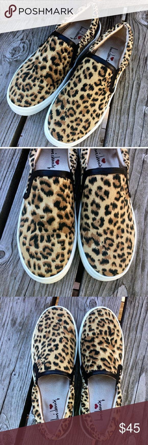 Leopard print slip on sneakers Brand new leopard print slip on sneakers. I purchased these and turned out they were too small. Shoes Sneakers