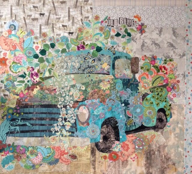 Old Blue Collage Pattern By Laura Heine Quilts Laura