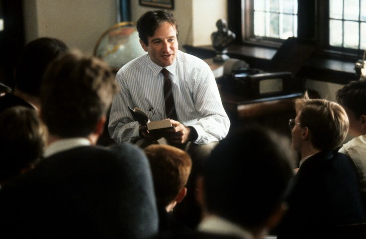 """Robin Williams was nominated for his role as the teacher who inspired his students at an upper class prep school in the 1950s in """"Dead Poets Society"""" (1989). Photo by Touchstone Pictures/Getty Images"""
