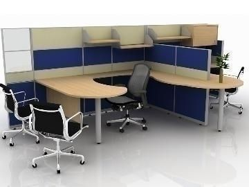 office cubicle design 3d model good and nice design for executivepreview with vray - Office Cubicle Design Ideas