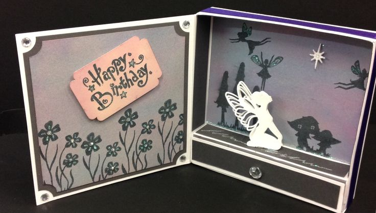 3D fairy box card with draw