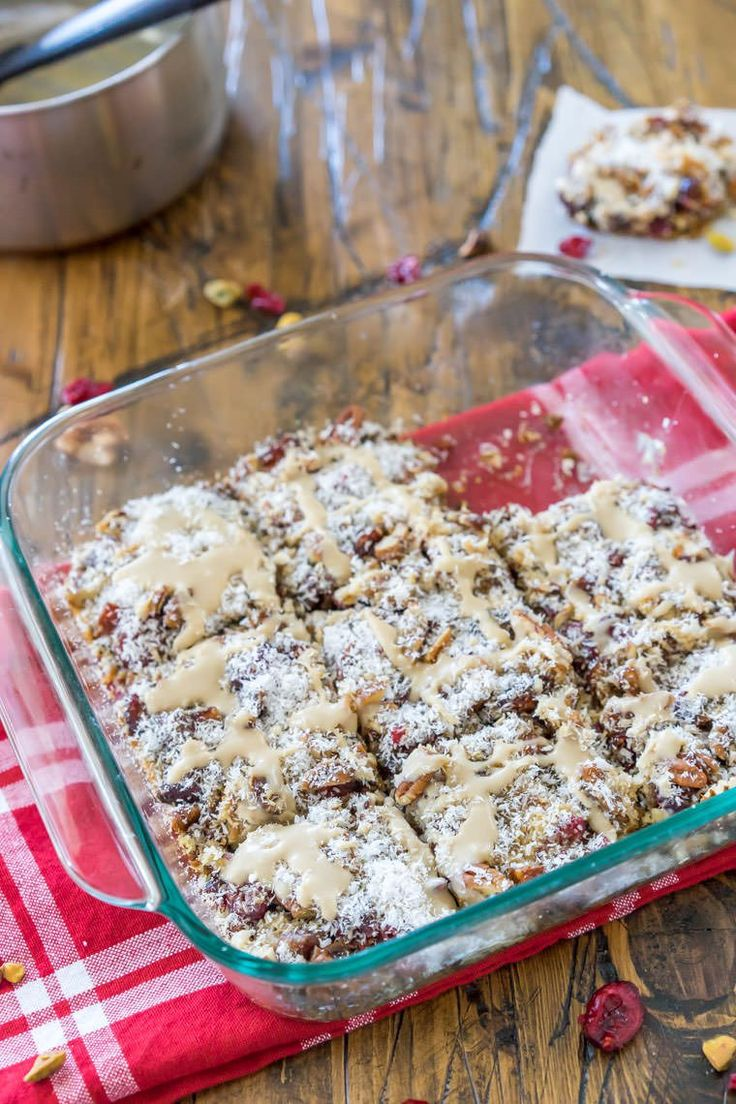 Magic Fruit Cake Bars with White Chocolate Drizzle | One Ingredient Chef