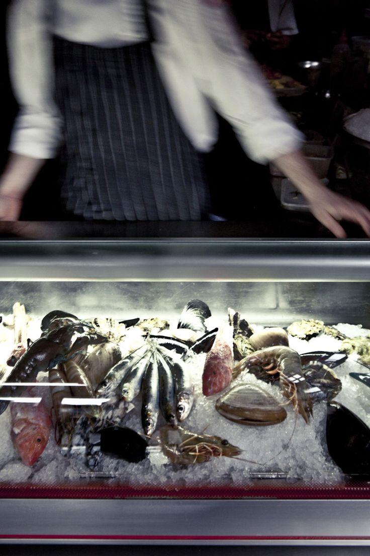 Seafood kitchen display.