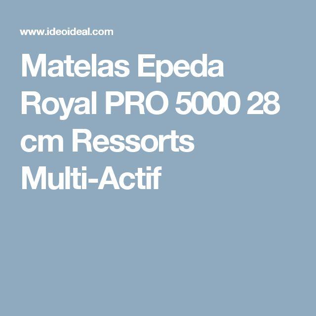 Matelas Epeda Royal PRO 5000 28 cm Ressorts Multi-Actif