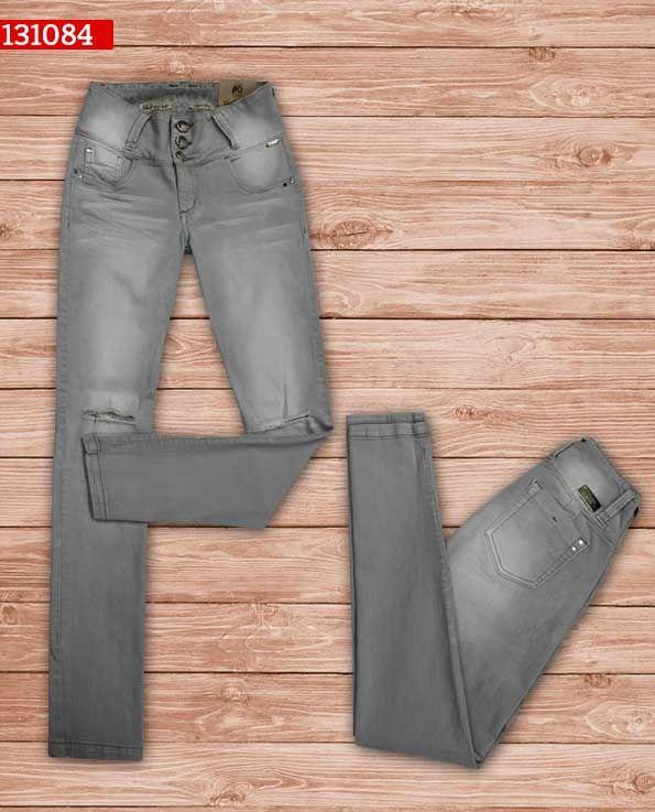 Pantalon-dama-color gris-bota-recta-ref-13184- #fashion #women #ropademoda