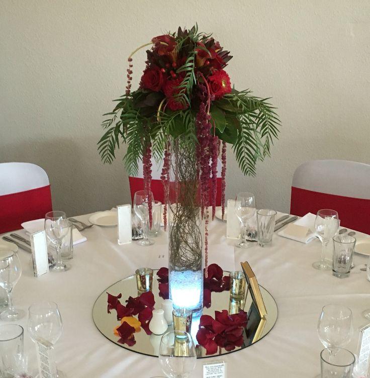 Guest table centrepiece.
