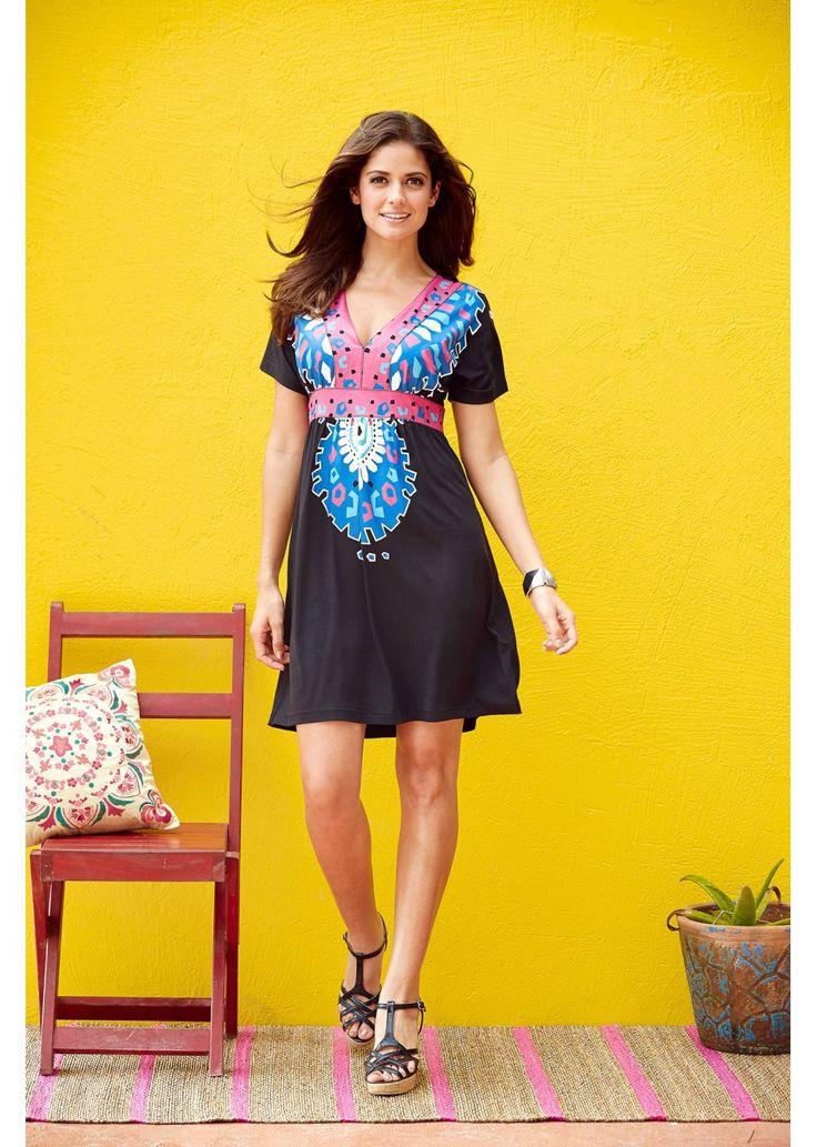 Sukienka Modnie drukowana sukienka z • 99.99 zł • bonprix