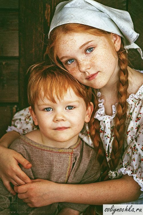 Рыженькие брат и сестра