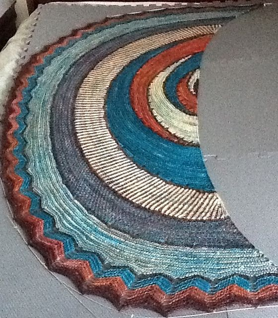 Ravelry: bayleegirl's Stephen West - Exploration Station Shawl