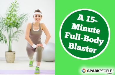 This 15-minute full-length home workout routine helps keeps your heart rate elevated while developing strength and stamina from head to toe.