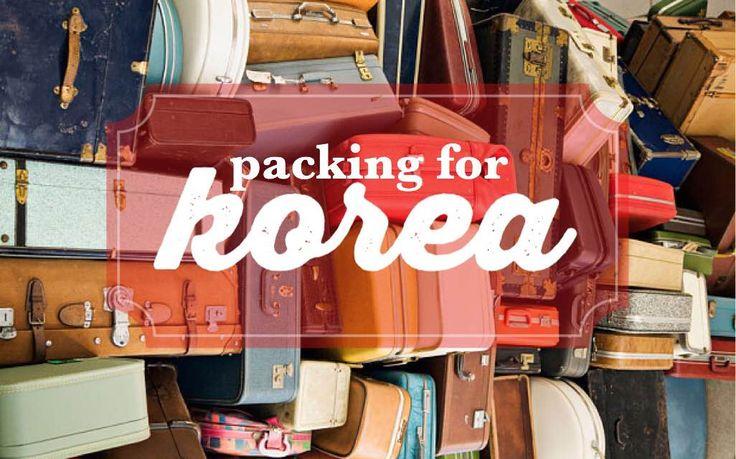 Packing for Korea