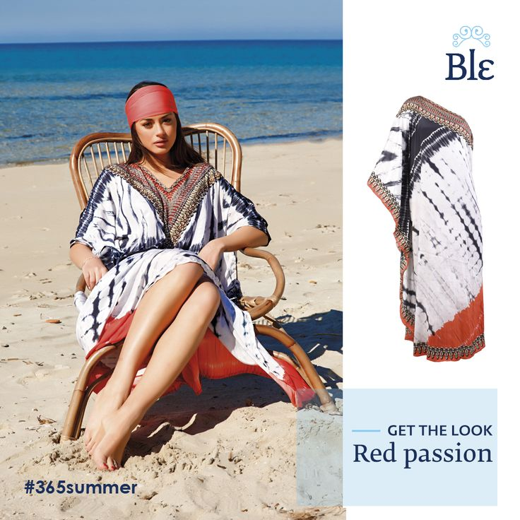Dresses and kaftans with a touch of red? We say yes!  The most vibrant summer colour adds a positive energy even to your most relaxing look. Get the look here http://www.ble-shop.com/clothes/skirts-dresses/kaftan-dress-in-black-white-red-color.html