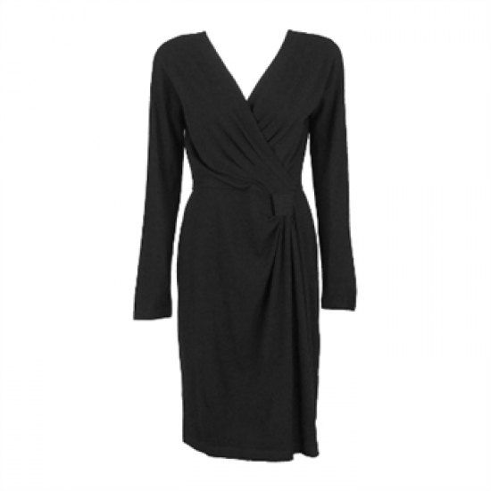Buy DKNY Women's Black Wool Faux Wrap Dress - S (AU 10) online in Australia - http://www.kangafashion.com/buy-dkny-womens-black-wool-faux-wrap-dress-s-au-10-online-in-australia/ #Australia #women #fashion #dress #sale