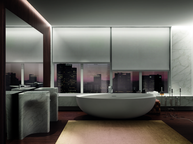 I Bordi #bathroom: luxury and simplicity, elemental shapes and opulent materials #Teuco #Autoritratti