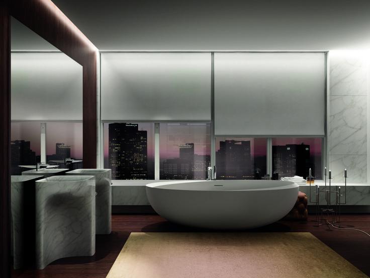 I Bordi #bathroom: luxury and simplicity, elemental shapes and opulent materials #Teuco #Autoritratti