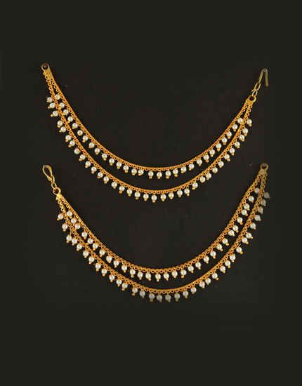 e2d06b7b3 Anuradha Art Jewellery Offers Range of Fashionable Ear Chains. To View More  Design Visit Our